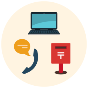 抵当権抹消登記は電話・メール・郵便で手続を完結することが可能です